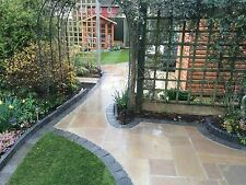 Raj Green Sandstone Paving Slabs 11.40m2 Calibrated Patio Flags Garden Slabs