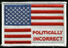 Politically Incorrect Iii%er Usa Flag Hook Badge Military Morale Patch - Color