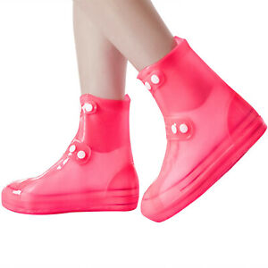 Waterproof Overshoes Reusable Rain Shoes Anti-slip Boot Press Button Protector