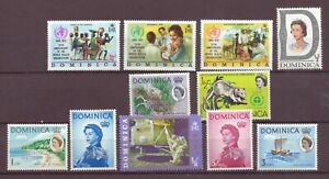 Dominica, Issues of 1968 - 1973, including First Moon Landing, MH