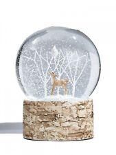 Gisela Graham Christmas Deer Woodland Reindeer Snowglobe - Home Decoration