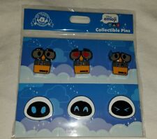 Disney Parks WALL-E and EVA Emoji Pins 6-Pin Pack Set 2018 New AUTHENTIC