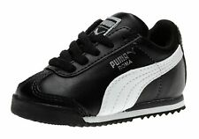 Puma Roma Black, White, Silver Toddler Kids Sneakers Tennis Shoes 35