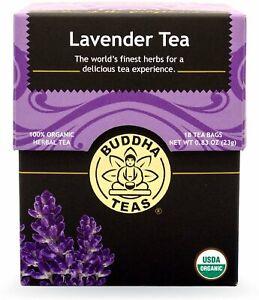 Lavender Tea by Buddha Teas, 18 tea bag 1 pack