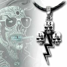 Alchemy Gothic TCB Taking Care of Business Skull Tattoo Pendant Ul13
