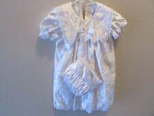 Girl Toddler Christening Baptism White Satin Formal Dress w/hat sz 4T