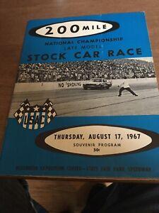 1967 August 17th USAC Stock Car Racing Program Milwaukee Mile State Fair Park