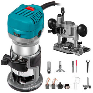 Trimmer Router Laminate 710W Variable Speed Compact Kit with Plunge Base