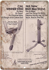 """10"""" x 7"""" Metal Sign Everything Bicycles Bike Stand Vintage Look Reproduction B44"""