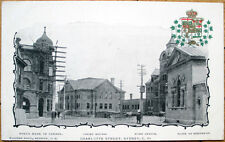 1902 Sydney, Nova Scotia/NS Postcard/PMC: Charlotte Street/Bank/Downtown- Canada