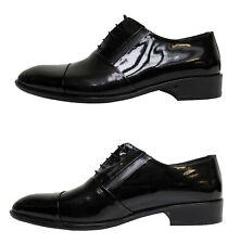 Herren Schuhe Echtleder Lack Gr.43 schwarz glänzend