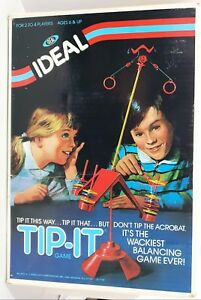TIP-IT Vintage IDEAL Toys Action BOARD GAME - Made In USA / Tip It