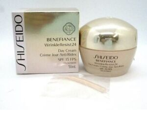 Shiseido Benefiance WrinkleResist24 Day Cream SPF 18 Sunscreen 1.8 oz New