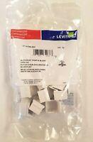41084-BW Leviton Blank QuickPort Insert, White - Bag of 10