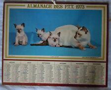 calendrier  Almanach des  PTT année 1973 - Anniversaire -Cadeau -mariage-dept 63