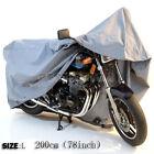 OUTDOOR MOTORCYCLE WATERPROOF MOTORBIKE STREET SCOOTER RAIN VENTED BIKE COVER L