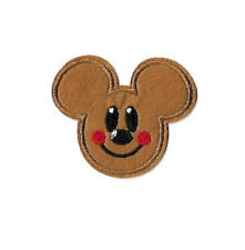 Mickey Gingerbread Man - Cookie - Embroidered Iron On Applique Patch