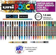 Posca PC-3M Fine Paint Marker Art Pen Fabric Glass Metal Stone Porcelain nib