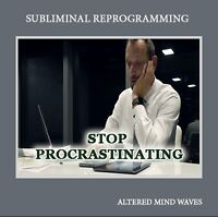Stop Procrastinating Now Subliminal Hypnosis CD - Complete Anything With Ease!