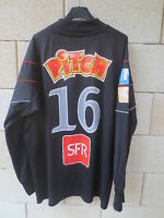 VINTAGE Maillot goal porté n°16 COUPE de FRANCE noir ADIDAS match worn shirt XL