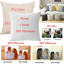 Custom Pillow Case Personalised Photo Printed Cushion Cover Xmas Birthday Gift