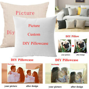 Custom Pillow Case Personalised Photo Printed Cushion Cover Xmas Birthday Gift