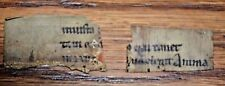 12th- 14th Century very interesting manuscript on vellum two Fragments Unique
