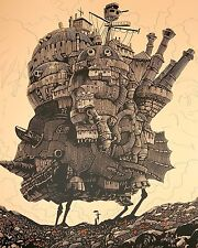Howl Moving Castle Poster S Ghibli Studio Calcifer Figure Miyazaki Cominica Haya