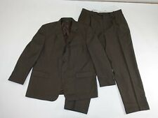 Paolo Solari Men's Athletic Fit Suit Size 46 Regular 38 x 31 Brown 100% Wool 46R