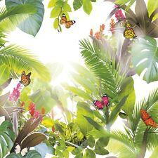 Amazonia Cítrico Hojas Verdes mariposas Selva Papel Pintado Por Arthouse 690300