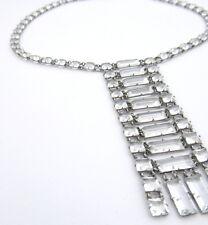 Necklace Vintage Platinon Crystal Sautoir Wedding Necklace Rare