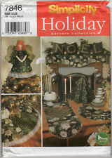 ©1997 UNCUT Simplicity Holiday Pattern Coll. # 7846 Christmas Decorations