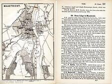 Maastricht 1894 Stadtplan + engl. Reisef. (3 S) Heugem St-Pieter Wijk Villa-Park