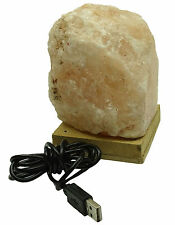 Ionized Energize Himalayan Crystal Rock Salt Lamp Led USB Natural Air SLP54A