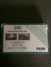 # 4123 Int.  Polar Year  U.S. Stamp  Souvenir Sheet of 2 Sealed Pack Of 100 $168