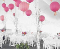 9x 30cm pink paper lanterns engagement wedding birthday hens party venue decor