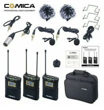COMICA CVM-WM100 Plus 48 CH Dual Lavalier Wireless Microphone System DSLR Camera