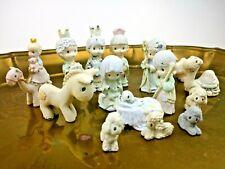 Precious Moments Mini Nativity 15 Piece Set Figures Manger Animals Pewter Metal