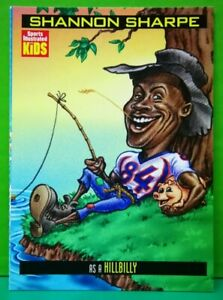 Shannon Sharpe card 1999 Sports Illustrated For Kids #844