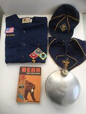 Boy Scouts 1970s shirt with patches cap Book canteen pin handkerchief lot