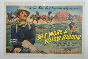 Original Print Ad 1949  SHE WORE A YELLOW RIBBON Film Productions