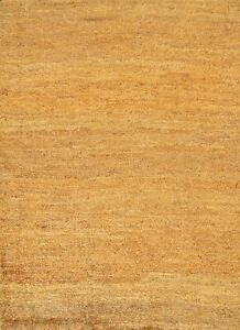 Contemporary Moroccan Solid Oriental Area Rug Indoor Outdoor Hand-knotted 4x6