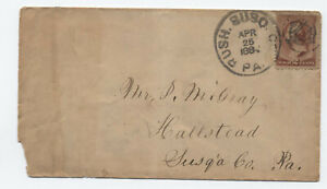 1884 Rush PA fancy cancel county markign #210 cover [H.930]
