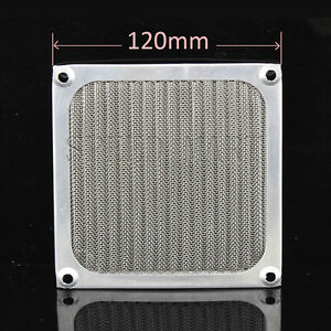 120mm Aluminum cooling Dustproof Dust Filter Grill Mesh Guard PC CASE CPU Fan