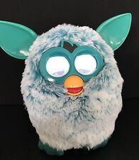 2012 Furby Boom White Teal Blue Interactive Talking Toy Hasbro