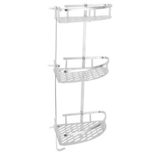 Tension Pole Shower Caddy Satin Nickel Shower Shelf Wall Mounted Easy To Install