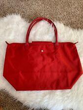 Longchamp Le Pliage Neo Large Tote Bag Peony Red