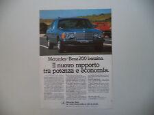 advertising Pubblicità 1981 MERCEDES BENZ 200 BENZINA