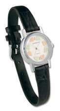 Black Hills Gold watch womens quartz analog silver with black band white face