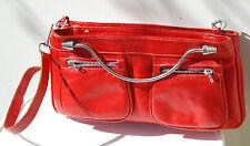 sac à main en cuir vintage rouge